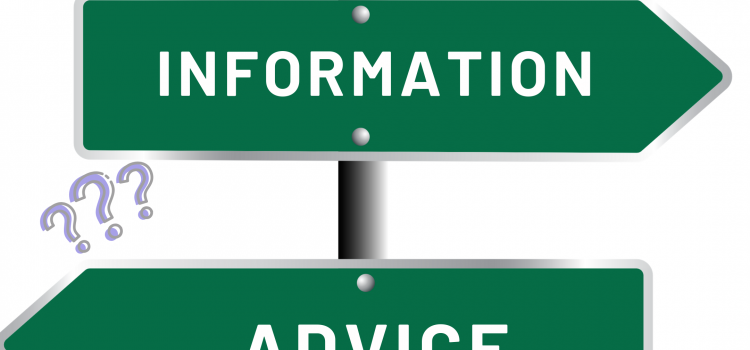 Advice 'V' Information. What's the difference?